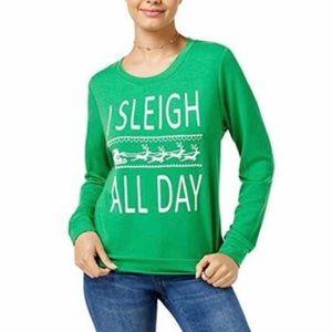I Sleigh All Day Holiday Christmas Sweatshirt XL